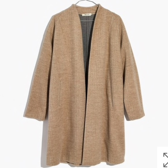 limited sale best website the sale of shoes NWT Madewell Camel Herringbone Swing Coat NWT